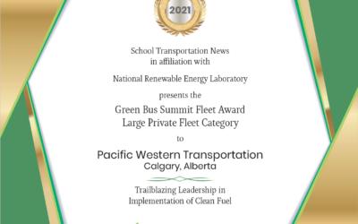 PWT's Propane Fleet Wins Green Bus Fleet Award