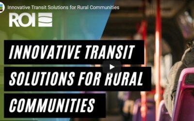Webinar: Innovative Transit Solutions for Rural Communities